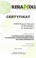 certyfikat kerakoll